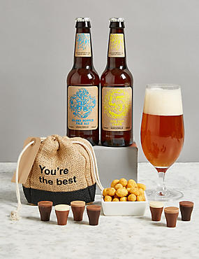 Cheers to You Beer & Chocolate Gift Selection