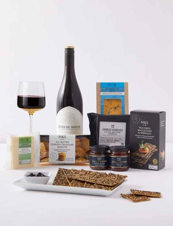 Summer Sundown Cheese And Wine Gift Set
