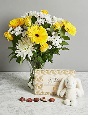 Baby shower gifts flowers new baby boy girl gifts ms new baby flower gift set negle Choice Image