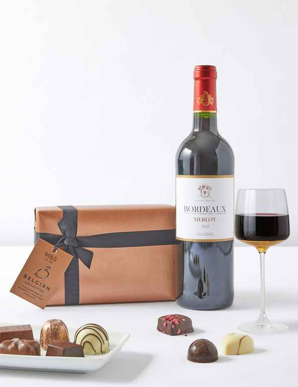 c11d4d2d Father's Day Red Wine & Italian Chocolates Gift Selection