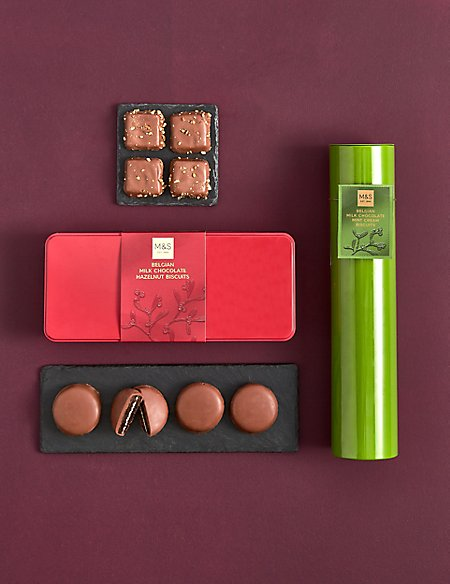 Crunchy Hazelnut Squares Festive Biscuit Favourites (Available for delivery from 1st Nov 2018)