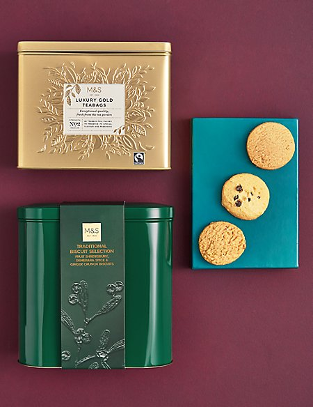 Christmas Family Biscuit and Tea Selection (Available for delivery from 1st Nov 2018)