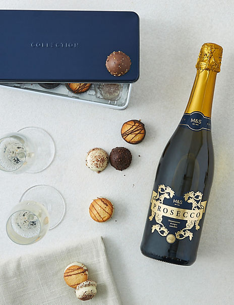 Butterscotch Crunch Biscuit Tin and Prosecco