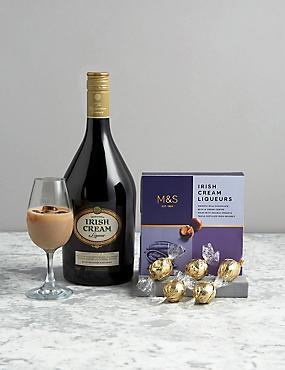 Traditional Irish Cream Liqueur and Truffles Gift Selection