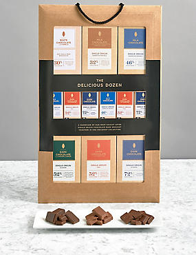 Delicious Dozen – 12 Assorted Single Origin Chocolate Bars