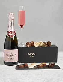 Rose Champagne & Chocolates