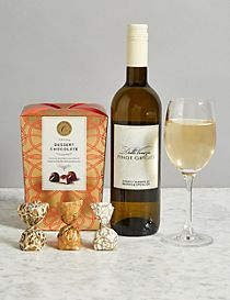 White Wine and Italian Dessert Chocolates Gift Selection