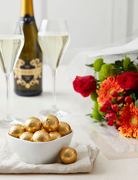 A Perfect gift... Prosecco, Roses & Swiss Chocolate Truffles