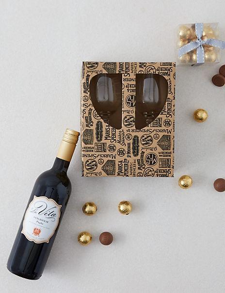 Red Wine and Chocolate Pairing Gift Set