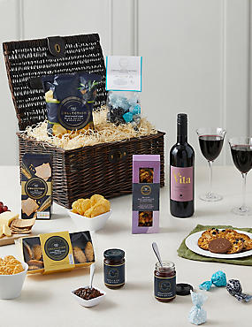 Luxury hampers gifts for him her ms the beaulieu hamper with red wine negle Gallery