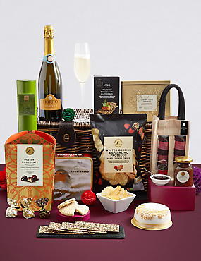the collection clevedon christmas hamper with prosecco free delivery