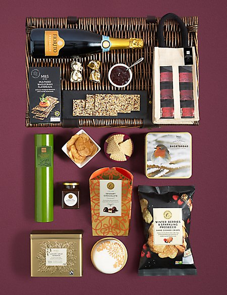 The CollectionClevedon Christmas Hamper with Prosecco (Available for delivery from 1st Nov 2018)