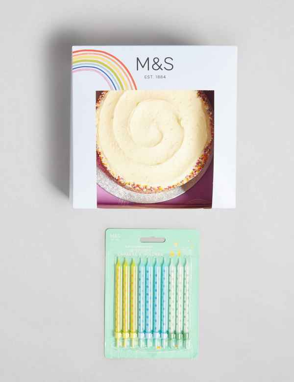 Phenomenal Rainbow Birthday Cake With Candles Gift Ms Funny Birthday Cards Online Bapapcheapnameinfo