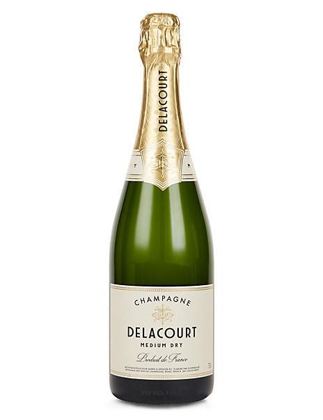 Delacourt Medium Dry Champagne - Case of 6