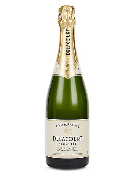 Delacourt Medium Dry Champagne - Case of 6