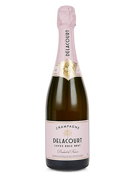 Delacourt Rosé Brut Champagne - Case of 6