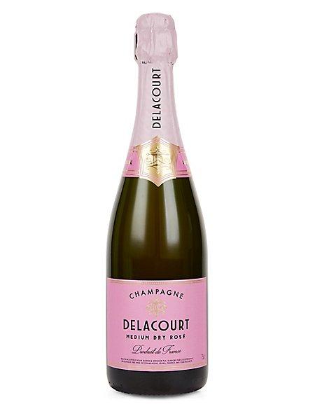 Champagne Delacourt Medium Dry Rose - Case of 6
