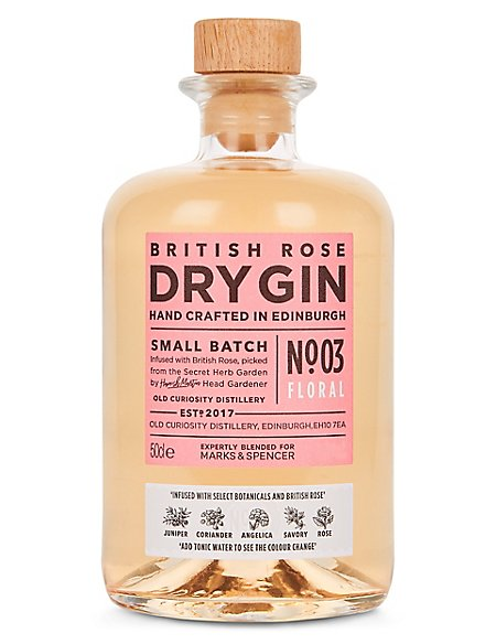 British Rose Colour Changing Dry Gin - Single Bottle