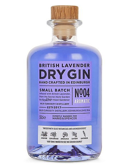 British Lavender Colour Changing Dry Gin - Single Bottle