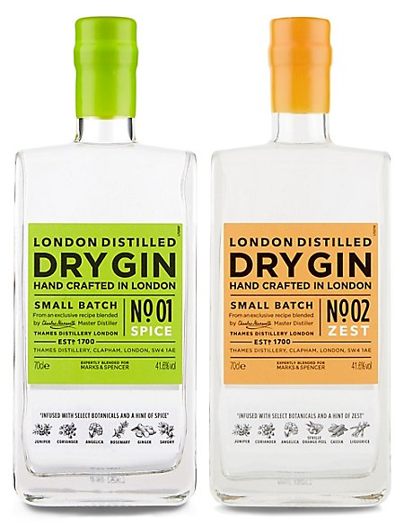 Hand Crafted London Dry Gin Duo - Case of 2