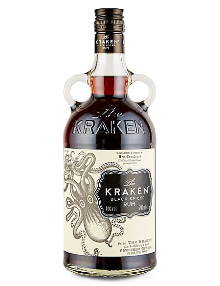 The kraken black spiced rum single bottle the kraken m s - Kraken rum pictures ...