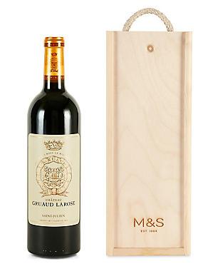 Château Gruaud-Larose - Single Bottle with Wooden Presentation Box