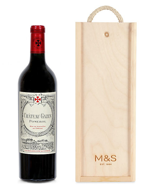Château Gazin 2014 - Single Bottle with Wooden Presentation Box