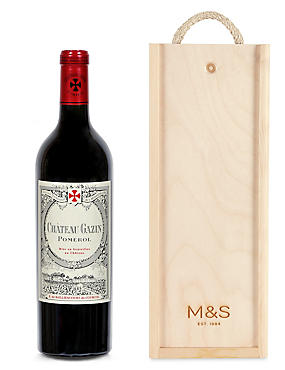 Château Gazin - Single Bottle with Wooden Presentation Box