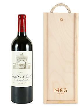 Château Léoville-Las Cases - Single Bottle with Wooden Presentation Box