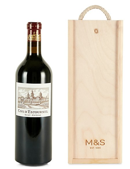Château Cos d'Estournel 2014 - Single Bottle with Wooden Presentation Box