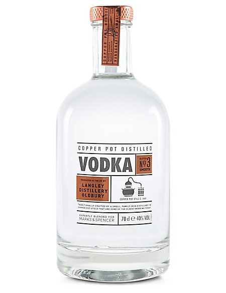 Copper Pot Distilled Small Batch Vodka Single Bottle M Amp S