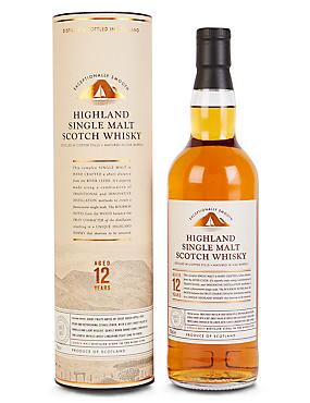 Highland Single 12 year Old Malt Whisky - Single Bottle