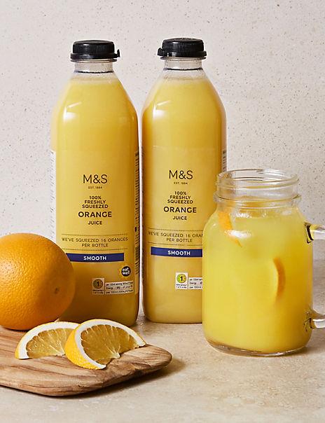 Freshly Squeezed Orange Juice – Smooth (2 Bottles)