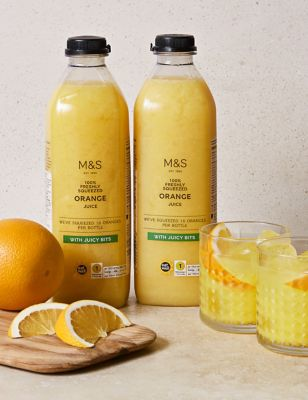 Freshly Squeezed Orange Juice – With Juicy Bits (2 Bottles) by Marks & Spencer