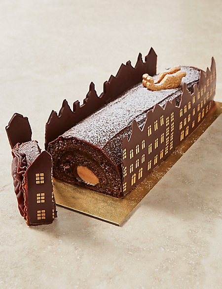 The Collection Santa's Rooftop Chocolate & Caramel Yule Log - Pre-Order: Collect between 1st & 20th December
