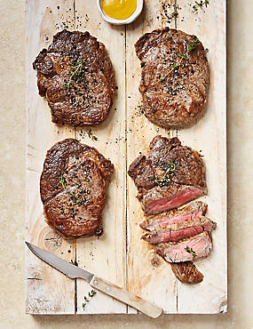 Aberdeen Angus Thick Cut Ribeye Steaks (4 Pieces)