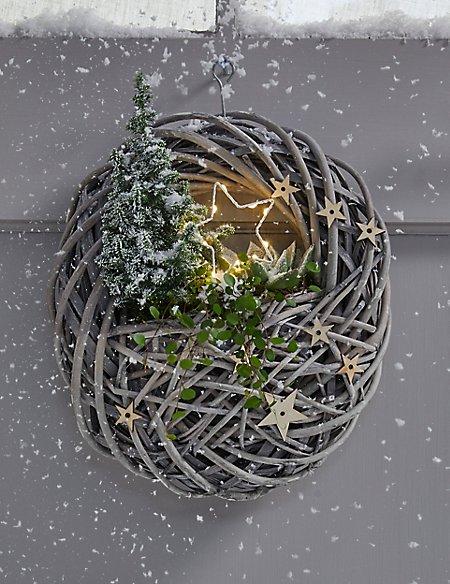 Christmas Hanging Star Wreath