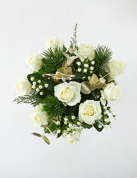 The Collection Magic & Sparkle White Rose Bouquet