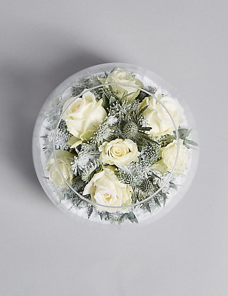 Snow Globe Christmas Vase Ms