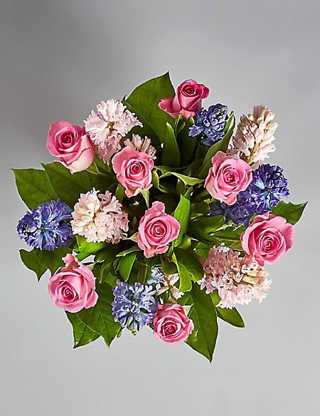 Mother's Day Rose & Hyacinth Bouquet (Available for delivery from 26th March 2019)