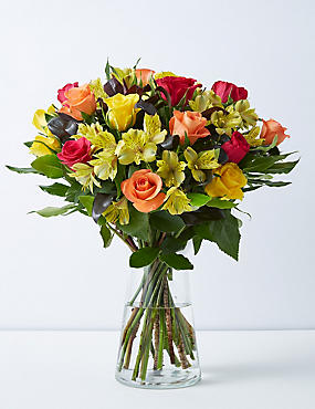 Autumn Rose & Alstroemeria Bouquet