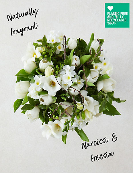 Fragrant Winter White Posy