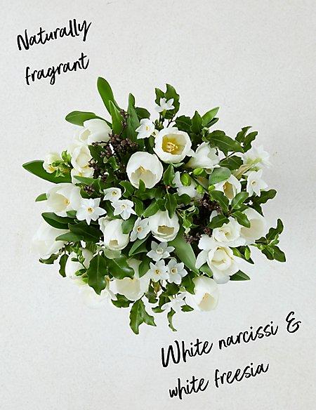 Fragrant Winter White Tulip & Narcissus Bouquet
