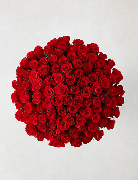 The Collection 100 Red Roses Bouquet (Delivery from 10th February 2020)