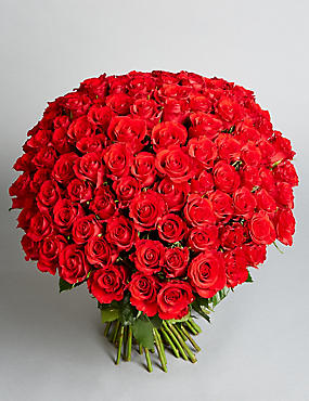 The Collection 100 Red Rose Bouquet