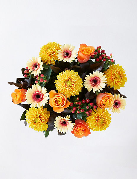 Collection Autumn Amber Rose Bouquet