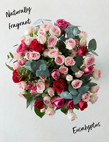 Valentine's Pink Mixed Roses (Delivery from 10th February 2020)