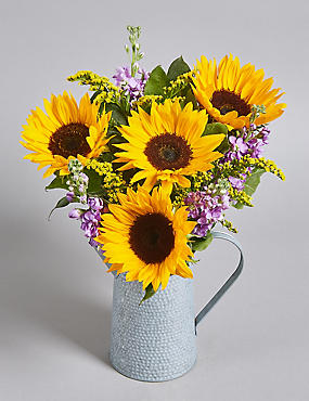 Sunflower & Stocks Jug