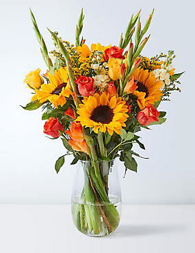 Sunflower & Gladioli Bouquet