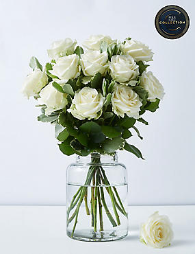 The Collection White Avalanche™ Rose Bouquet